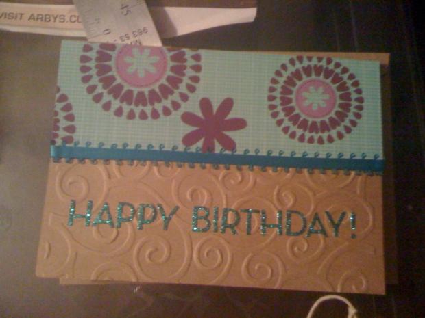 A pretty card