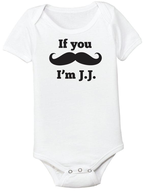 Sassy 'Stache Mustache Baby Bodysuit