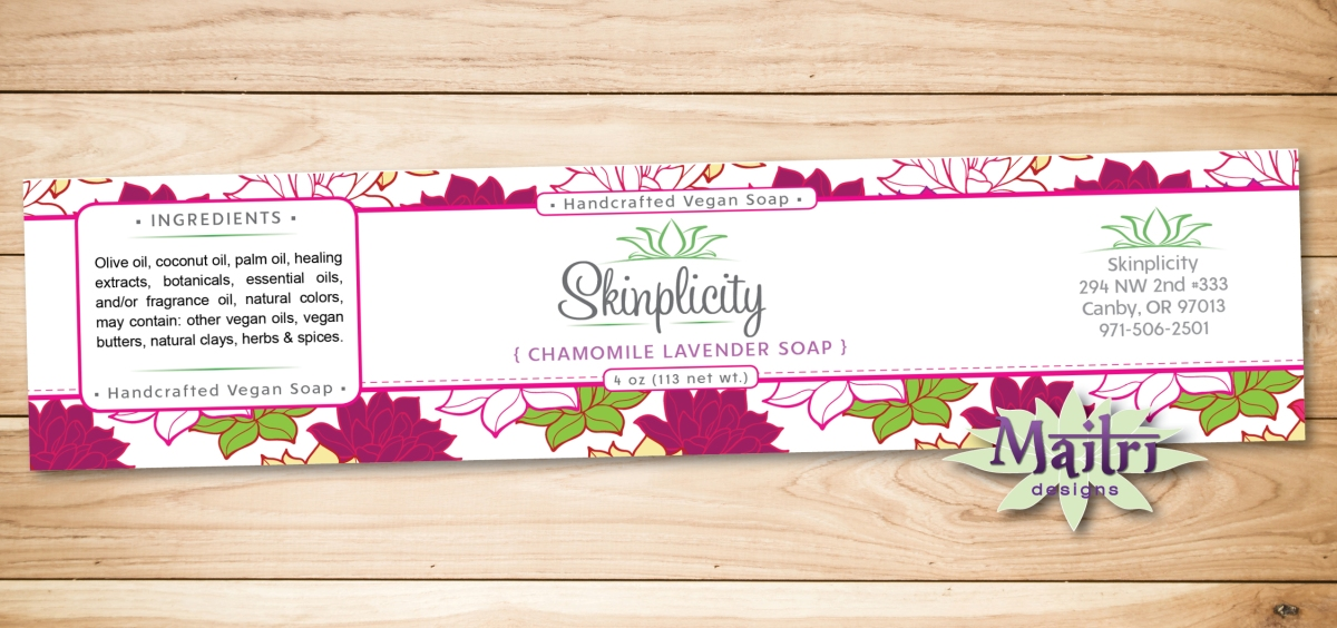 Skinplicity Soap Labeling